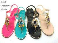 2015 Fashion ladies shoes Jewelly Crystal Sandals And Slippers Shoes Women Plastic Jelly Shoes