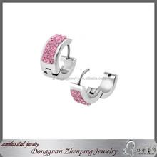 stainless steel huggies earrings fashion design for women