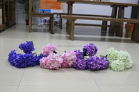 Wholesale artificial branch hydrangea flowers, real touch hydrangea for wedding decoration