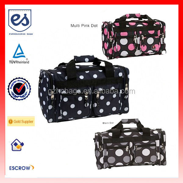 New Design Multi Dot 19-inch Carry On Duffel Bag/Weekend Bag