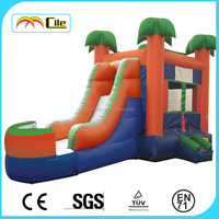 CILE Summer Hot Game Party Decoration Forest Inflatable Slide Castle