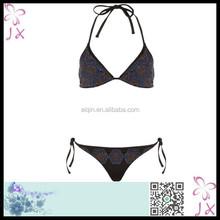 black strap girls triangl swimwear bikini JXSW-1033