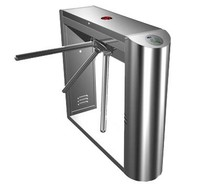 turnstile with built-in electronics and 2 readers remote control panel