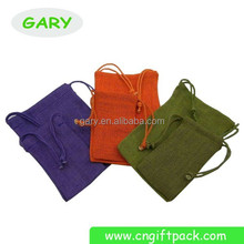 best selling colorful linen convenient bags with drawstring