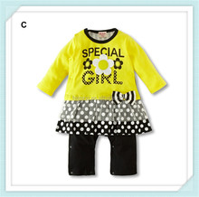 Wholesale fancy convenient top quality newborn baby Autumn romper