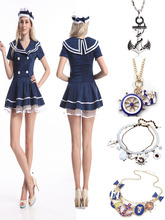 2014 Instyles walson Sexy Womens Sailor Fancy Dress Costume Outfit Uniform Lingerie Hen Party