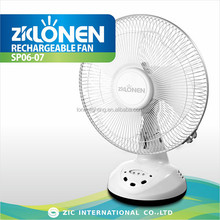 LONEN 12inch oscillating rechargeable table electrical dc fan