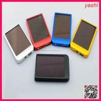 YASHI 2600mah mini solar power bank charger with led lighting function