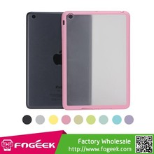 Soft TPU Frame Hybrid Transparent Light Matte Hard Case Cover for iPad Mini
