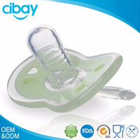 2015 transparent hot sale baby pacifier/Natural rubber baby teether toy