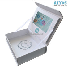 Box Style Video Card With 4.3 inch Lcd Screen Fashion Display Video Brochure Box
