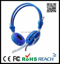 Microphone blue headphone metal structure