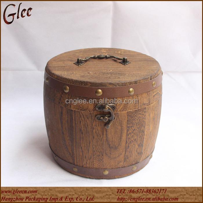 Petit tonneau en bois décoration pour de stockage de théTambours  ~ Petit Tonneau En Bois