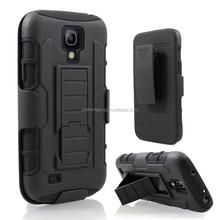 Good design future armor case belt clip back cover hybrid hard case for samsung s4 mini i9190