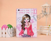 Wholesale Fashion Leather Case for iPad Mini,Fashion Beautiful Girl Book Style Leather Case for iPad Mini,Many Girls Pattern