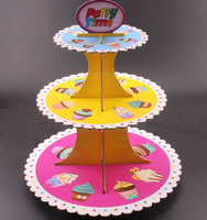 3 Tier Cardboard Cake Stand Wedding Cupcake Display Stand