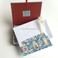 High quality notebook with delicate box and envolpe full colour printing