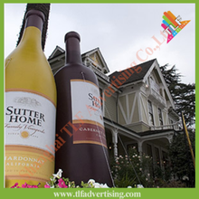 Giant advertising inflatable replicas wine bottles
