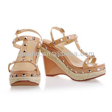 2013 apricot women wedge rivets comfortabl wholesales price sandals