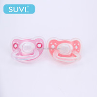 best design flat shape silicone custom design latex pacifier wholesale pacifier for baby