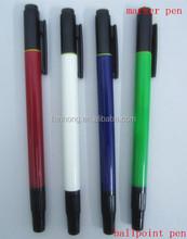 double sides pen(ball pen+highlighter)