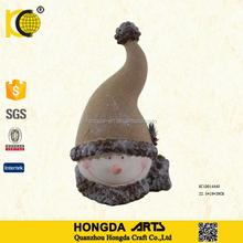 15.5 Inch Popular Style Funny Ceramic Snowman Head Christmas Craft