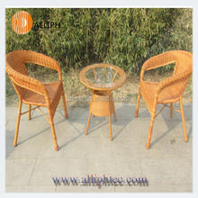 PE rattan garden furniture rattan dinning table set