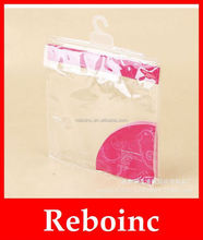 2012 new plastic PVC hanger hook bag for packaging