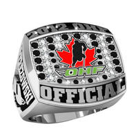 Custom Silver Canada Cup Hockey Championship Rings