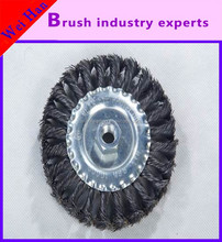 flat knotted steel wire wheel brush