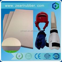 rubber foam for dipped foam taekwondo protector/shin guard