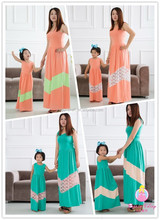 Bella fairy wholesale mommy and me maxi dress design latest girls clothes 2015 family matching clothing