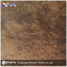 100% poliéster bronzeado sofá de camurça tecido / sintético tecido de camurça