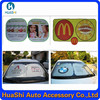 Hot sale foldable sun shade,car sun visor tube curtain decoration