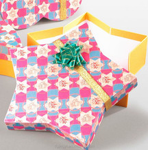 Bling star shape gift paper box/kraft paper gift box/packaging paper box