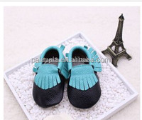 Assorted colors baby kids fringe shoes genuine leather moccasins wholesale