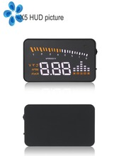 New Arrival universal 3.5 inch car heads up display X5 car hud with obd 2 obd ii obd2 interface high quality