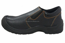 Low Cut Safety Shoes Leather Upper, Steel Toe Cap, PU Injection Outsole