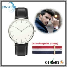Minimalist 6mm super thin japan movt nylon mans cool watch 2015