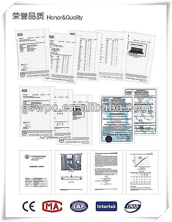 유럽 시장 울타리 알루미늄 프레임 나무 플라스틱 복합 보드 wpc ...