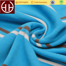 Yarn dyed single pique UV protective 100 cotton knitted fabric for polo shirts