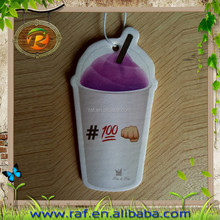 2015 milky tea best selling Wholesale New Design Promotional Paper Car Air Freshener