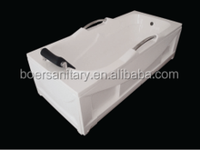 High quality cheap simple one person small acrylic skirt corner bathtub