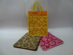 stripe design book bag with press button