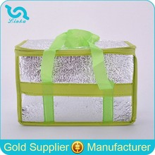 Promotional Aluminium Foil Cooler Bag Recycled Aluminum Foil Cooler Bag Yiwu Bag Factory