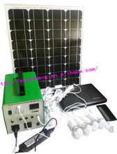 Mini solar electricity generating system for home using