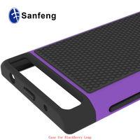 Hard plastic soft silicon mobile shell for Blackberry leap Z20 ballistic case / football tattoo back cover for Blackberry Z20