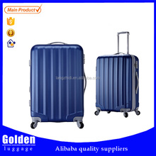 Alibaba China new product trolley luggage aluminum opening ABS and PC luggage bag with TSA lock