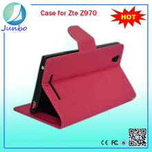 Innovative smooth cover leather wallet mobile cases for zte z970