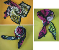 Updated hot selling uniform men silk scarf